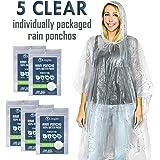 Lingito 雨披:男士、女士和青少年一次性急用雨披(5 件装)超厚重型