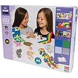 Plus-Plus 9603812 玩具迷你拼插积木,Learn to Build Super 粉彩积木套装,1200块,彩色