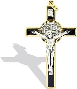 天主教圣本丁基十字架项链