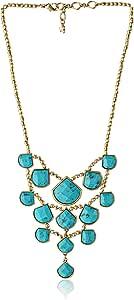 Lucky Brand Set Stone Collar 颈链,43.18 厘米