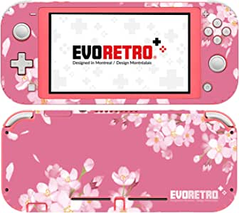 EVORETRO Nintendo Switch Lite 手机套 - 3M 乙烯基全包 Nintendo Switch Lite 手机套,开关配件 - 粉色花卉