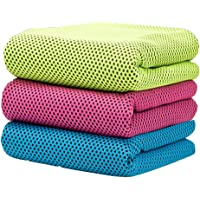 Chez Bos 冷却毛巾蒸发超细纤维毛巾即时缓解快速尝试冰毛巾 - 完美适合瑜伽高尔夫普拉提露营健身跑步健身 101…