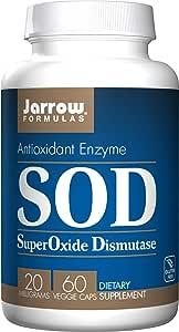 Jarrow Formula Sod Superoxide dismutase 抗氧化酶素食胶囊,60 粒