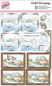 docrafts ANT169629 Anita's A4 Foiled Decoupage 床单,游艇,多色