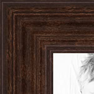 ArtToFrames 5x13 inch Walnut Stain on Hard Maple Wood Picture Frame, 2WOM0066-60823-YWAL-5x13
