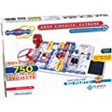 Elenco Snap Circuits Extreme SC-750 电子探测套件| 750多件项目| 全彩项目手册| 80多个Snap Circuits零件| STEM益智玩具 适用于8岁以上儿童
