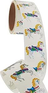 Jillson & Roberts 散装卷动物和鸟棱镜贴纸,多种颜色和尺寸可选 Carousel Horses 1 Roll - 50 Repeats BS7116-1