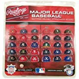 MLB 职业棒球豪华头盔标准板,迷你,红色