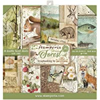 STAMPERIA SBBS06 纸张 10 张 20.3 × 20.3 (8 英寸 × 8 英寸)双面森林,多色