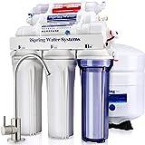 iSpring 爱诗普霖 RCC7AK 6级 精致口感 高容量 水槽下 反渗透 饮用水过滤系统 碱性补充矿质 - 天然 pH 值, 白色