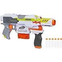 NERF 热火 Modulus电动玩具冲击器,具有落地握把,枪管延伸,6-弹夹,6个官方飞镖,面向儿童,青少年和成人