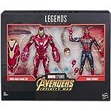 Marvel 传奇系列复仇者联盟:无限战争 规模电影风格的钢铁侠马克50和钢铁蜘蛛,可收藏的动作人物,2件装,6英寸(约…