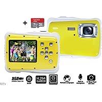 Vetté 儿童数码相机,含 16GB MicroSD 卡 - 儿童相机防水 - 4 倍变焦,*高 1200 万像素,7…