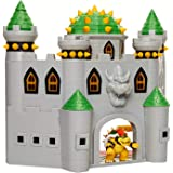 Nintendo 任天堂 Super Mario Bowser的城堡玩具套装,带有2.5英寸(约6.35厘米)铰接式可动人偶Bowser,具有真实游戏声音的互动玩具