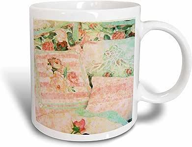 3dRose mug_21578_1 Victorian Bed Pillows Ceramic Mug, 11-Ounce