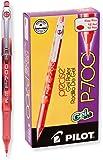 Pilot Precise P-700 凝胶墨水滚珠笔,细笔尖,蓝色墨水,单笔 (38641) Dozen Box 红色