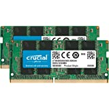 Crucial(DDR4、PC4-17000、SODIMM、260 针)内存CT2K8G4SFS824A 2400 MT/s 16 GB Kit (8 GB x 2) Single Rank x8