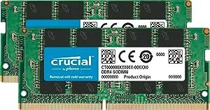 Crucial(DDR4、PC4-17000、SODIMM、260 针)内存CT2K8G4SFS824A  2400 MT/s 16 GB Kit (8 GB x 2) Single Rank x8
