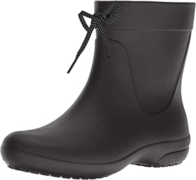 Crocs Women's Freesail Shorty Rainboot Blk Rain Boots