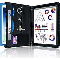 STYLIO 带拉链的皮夹组合活页夹,面试续会文件整理器。 iPad/平板电脑内置支架(*大 10.1 英寸),手机和名…