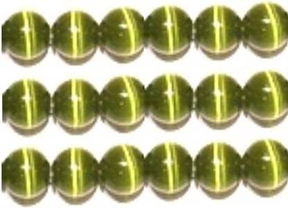 """8mm 猫眼珠串""""A"""" 级光纤,32 种颜色可供选择 橄榄色 8mm unknown"""