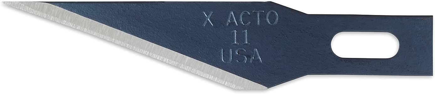 ELMERS X-Acto #11 刀片适用于 X-Acto 刀,散装包,每盒 500 个刀片 (X511) #11 刀片 100 Blades 银色