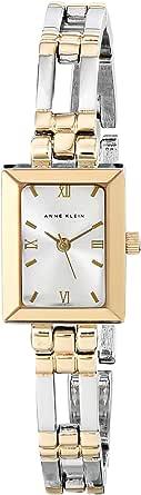 ANNE KLEIN 女士 104899SVTT 双色手链时装表,Silver/Gold Bracelet With Silver Dial,均码