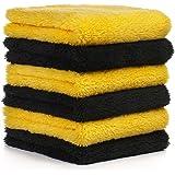 适用于汽车的超细纤维毛巾 - 6 件装 - 540gsm 无边汽车毛巾 - 30.48 cm x 30.48 cm 紧凑…