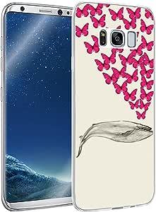 S8 Plus 手机壳,Galaxy S8 Plus 手机壳,MUQR 三星 Galaxy S8 Plus 手机壳硅胶橡胶保护 - 玫瑰和骷髅酷炫设计 Print7