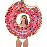 充气 大型泳池浮子 ~ 含泵 甜甜圈 草莓色