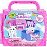 Crayola 74-7304-E-000 Washimals Pets Beauty Salon, Colour and Create playset That Folds into a Carry case, Includes Washable pens and Dog and cat Figures, Multi