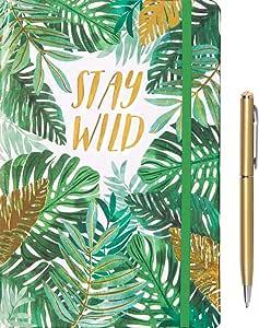 设计精装内衬页日记本和笔包 Stay Wild
