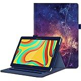 Fintie 保护套适用于 VANKYO MatrixPad S30 10 英寸平板电脑 - [解放双手] 多角度观看对开智能支架盖带口袋,笔座适用于 MatrixPad S30 10.1 英寸 Android 平板电脑