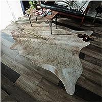 牛皮风印花地毯 牛 米色 约155×190cm 「GSCD914179」