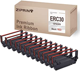 12 件装 ERC30 ERC 30 34 38 丝带 BR 与 ERC38 ERC34 ERC30(黑红色)