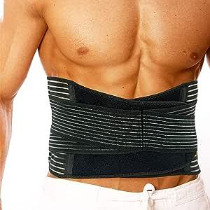 BINGOOD 背部支撑带,弹性下腰背支撑带可调节绑带透气网眼背部缓解*,科学,*,运动,健身 - 腰部修剪器