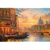 1000片拼图 黄昏的威尼斯咖啡馆 微型拼图(26×38cm)