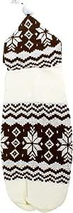 uxcell 多色菱形印花宠物狗小狗针织衫,XS 码,咖啡色/白色