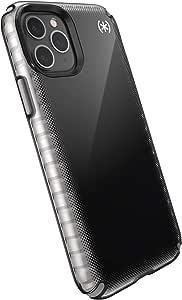 Speck 产品 Presidio2 Armor Cloud 手机壳,兼容 iPhone 11 PRO136427-9117  Black Fade/Black/Cathedral Grey