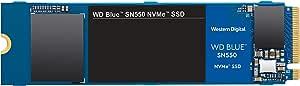 Western Digital Blue SN550 NVMe 内置固态硬盘 Gen3 x4 PCIe 8Gb/s  M.2 2280 3D NAND 高达2,400MB/s WDS250G2B0C 250GB