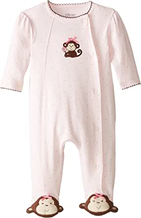Little Me Little Me Baby Girls' Pretty Monkey Footie
