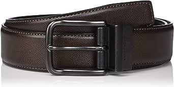 Perry Ellis 男式公文包休闲棕色双面腰带 35mm