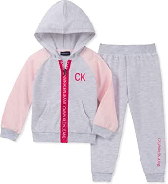 Calvin Klein 女童 2 件套慢跑裤套装