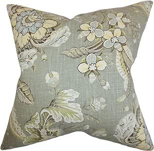 "枕头系列Eluned Floral 欧式枕套* * Standard/20"" x 26"" STD-D-CLARENCE-GREY-L55R45"