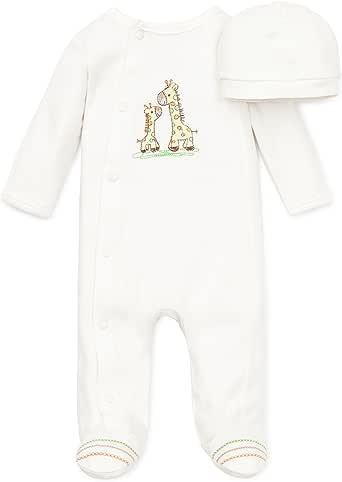 Little Me 象牙白长颈鹿图案连体衣, 个月