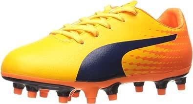 PUMA 儿童 Evospeed 17.5 FG Jr 滑板鞋 超黄色孔雀-橙色小丑鱼 4 M US 儿童