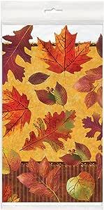 Unique Plastic Beautiful Fall Table Cover, 84 x 54
