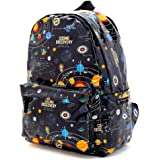 帆布背包 儿童用 太阳系行星和宇宙象征 黑色 N0738100