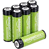 AmazonBasics AA Rechargeable Batteries (8-Pack) Pre-charged