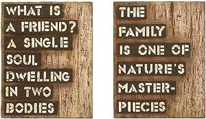 Deco 79 56001 不适用木头墙饰 2 种组合,48.26 厘米高,38.1 厘米宽 -